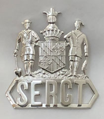 hat badge with rank in frame
