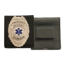 leather badge holder magnetic