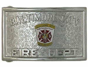 fire department belt buckle custom