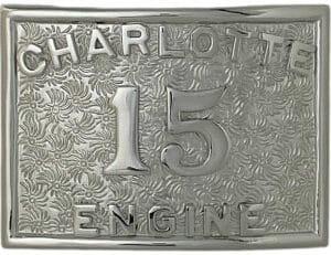 fire department belt buckle custom number