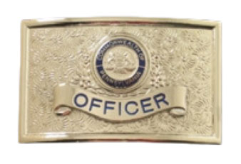belt buckle with custom engraved panel