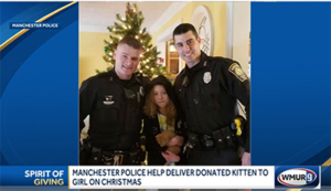 cops donate kitten to girl