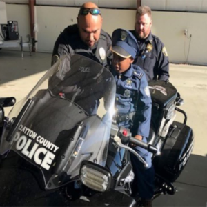 child with cancer becomes honorary cop