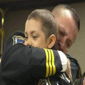 child who died of cancer receives huge honor from police