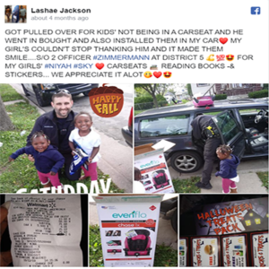 cop buys children car seats
