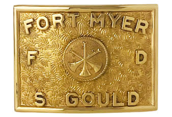 custom buckle with F and D