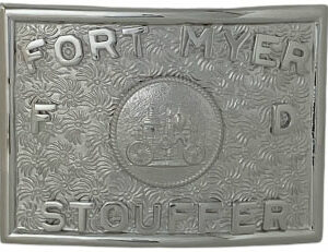 belt buckle custom letter and seal
