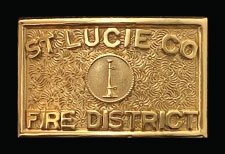 ST LUCIE COUNTY BELT BUCKLE
