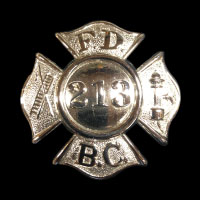 Baltimore County FD Maltese hat badge
