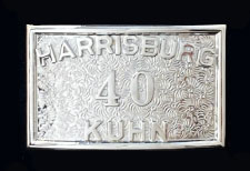 buckle with applied number