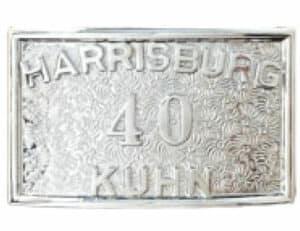 belt buckle with custom number