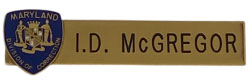 department of corrections name plate