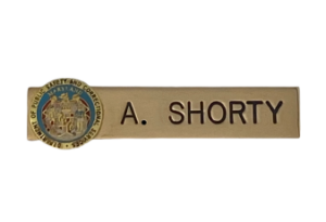nameplate with enamel seal